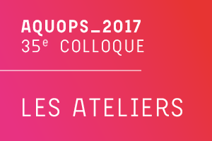 35e colloque AQUOPS 2017