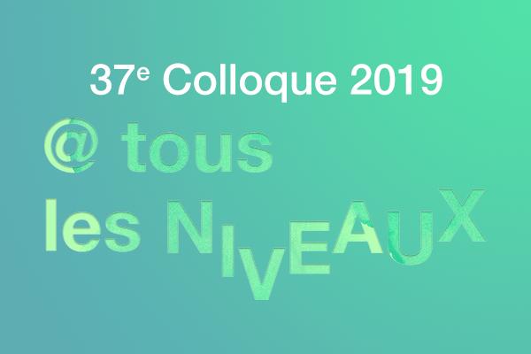 37e colloque AQUOPS 2019